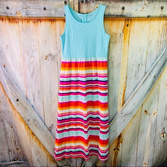 NWOT Gymboree Sleeveless Striped Maxi Dress 8